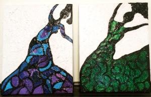 Dancing Ladies 1 & 2