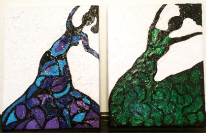 Dancing Ladies 1 & 2
